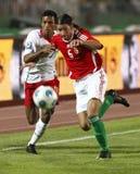 L'Ungheria contro il 0:1 del Portogallo, qualificatore della tazza di mondo della FIFA Fotografia Stock