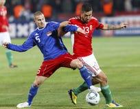 L'Ungheria contro il Liechtenstein (5: 0) Fotografie Stock Libere da Diritti