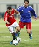 L'Ungheria contro il Liechtenstein (5: 0) Immagini Stock