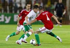 L'Ungheria contro la partita di football americano amichevole dell'Irlanda Fotografia Stock