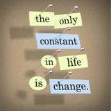 L'unica costante nella vita è cambiamento Fotografia Stock