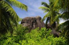 L'Union gods, La Digue, Seychellerna öar fotografering för bildbyråer