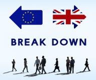 L'Unione Europea di permesso di Brexit Gran-Bretagna ha smesso il concetto del referendum fotografia stock
