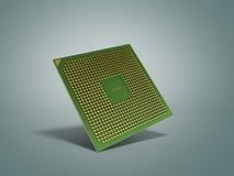 L'unité centrale de traitement 3d de haute résolution de processeurs d'ordinateur central rendent sur le gre Photo libre de droits