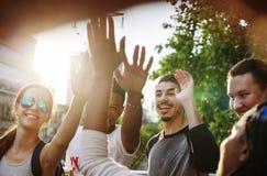 L'unité d'amitié de personnes rassemblent Team Unity Concept Photo libre de droits