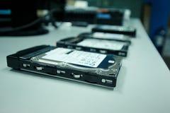 L'unité de disque dur stocke des dossiers pour le PC Image stock