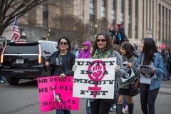 L'unité est un poing puissant - Womens mars - Washington DC Image libre de droits