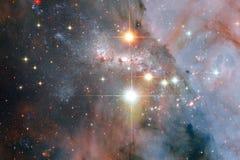 L'univers a rempli ?toiles, n?buleuse et galaxie Art cosmique, papier peint de la science-fiction image stock