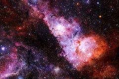 L'univers a rempli ?toiles, n?buleuse et galaxie Art cosmique, papier peint de la science-fiction illustration stock