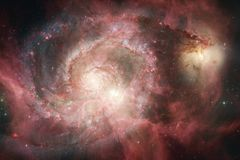 L'univers a rempli ?toiles, n?buleuse et galaxie Art cosmique, papier peint de la science-fiction illustration libre de droits