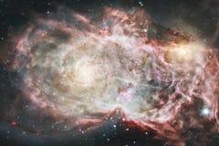 L'univers a rempli ?toiles, n?buleuse et galaxie Art cosmique, papier peint de la science-fiction photo libre de droits