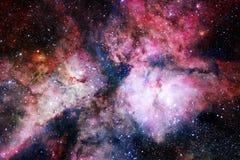 L'univers a rempli ?toiles, n?buleuse et galaxie Art cosmique, papier peint de la science-fiction illustration de vecteur