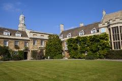 L'université du Christ à Cambridge Image stock
