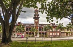 L'université royale de la Reine est un bâtiment d'héritage au Trinidad Photo libre de droits
