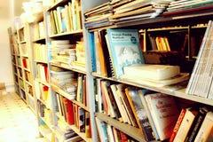 à l'université de bibliothèque Photo stock