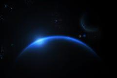 L'universo blu Fotografia Stock Libera da Diritti