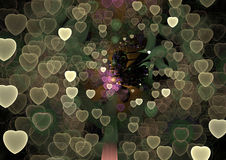 L'universo di amore - illustrazione variopinta astratta di forma 3D immagine stock libera da diritti