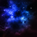 L'universo ha riempito di stelle, di nebulosa e di galassia Fotografie Stock