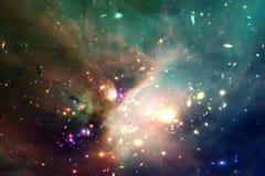 L'universo ha riempito le stelle, la nebulosa e la galassia Arte cosmica, carta da parati della fantascienza fotografia stock libera da diritti