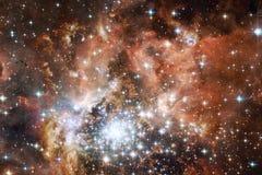 L'universo ha riempito le stelle, la nebulosa e la galassia Arte cosmica, carta da parati della fantascienza illustrazione vettoriale