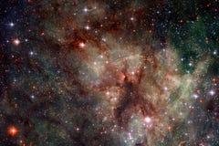 L'universo ha riempito le stelle, la nebulosa e la galassia Arte cosmica, carta da parati della fantascienza fotografie stock libere da diritti