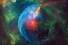 L'universo ha riempito le stelle, la nebulosa e la galassia Arte cosmica, carta da parati della fantascienza illustrazione di stock