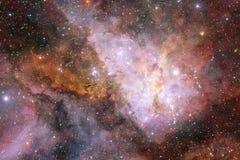 L'universo ha riempito le stelle, la nebulosa e la galassia Arte cosmica, carta da parati della fantascienza royalty illustrazione gratis