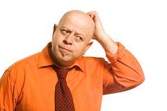 L'uomo è triste Fotografia Stock