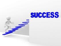 l'uomo 3d sale la scala di successo Immagini Stock