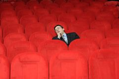 L'uomo addormentato Fotografie Stock