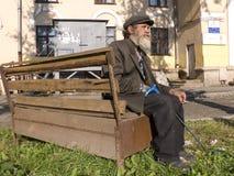 L'uomo barbuto anziano Fotografie Stock