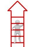 L'uomo cammina di sopra su priorità bassa bianca illustrazione vettoriale