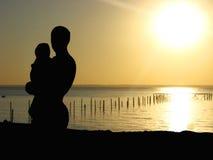 L'uomo con il bambino Fotografie Stock