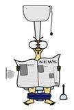 L'uomo con il giornale Illustrazione di Stock