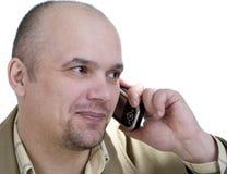 L'uomo con il telefono Immagini Stock Libere da Diritti
