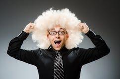 L'uomo con stile di capelli divertente fotografie stock libere da diritti