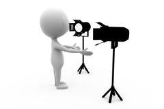 l'uomo 3d accende il concetto Fotografia Stock Libera da Diritti