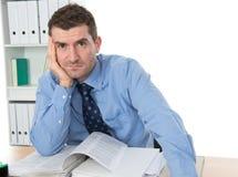 L'uomo d'affari è stanco Immagini Stock Libere da Diritti
