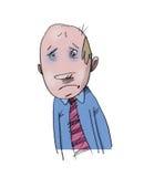 L'uomo d'affari è triste Fotografia Stock