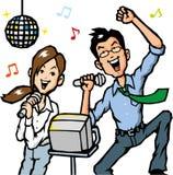 L'uomo d'affari canta una canzone Fotografie Stock Libere da Diritti