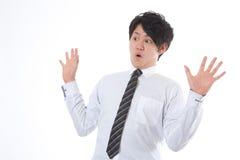 L'uomo d'affari che è sorpreso Fotografia Stock Libera da Diritti