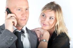 L'uomo d'affari con la moglie Immagini Stock