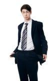 L'uomo d'affari con le tasche vuote Fotografia Stock Libera da Diritti