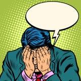 L'uomo d'affari dell'uomo chiede il perdono illustrazione di stock