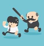 L'uomo d'affari dell'illustrazione è stato attaccato dal capo Fotografia Stock