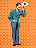 L'uomo d'affari dell'uomo dice il concetto giusto di successo di affari royalty illustrazione gratis