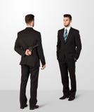 L'uomo d'affari due stringe le mani Immagini Stock Libere da Diritti