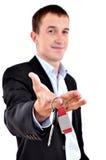 l'uomo d'affari fornisce i tasti Immagini Stock Libere da Diritti