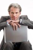 L'uomo d'affari ha una rottura Fotografia Stock