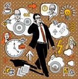 L'uomo d'affari parla sul telefono del commercio. Immagine Stock Libera da Diritti